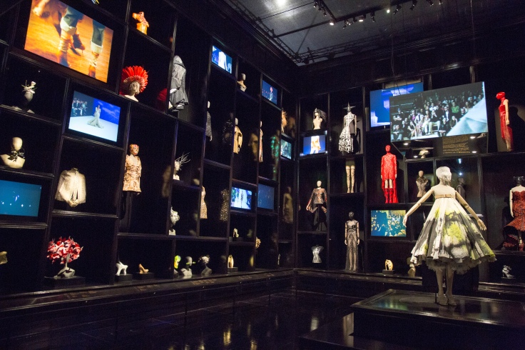 6. The Cabinet of Curiosities Installation view of London gallery Alexander McQueen Savage Beauty. Victoria and Albert Museum London